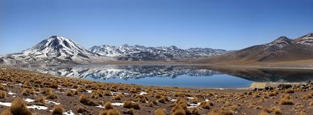 Panoramic of laguna Miscanti Stock Photo
