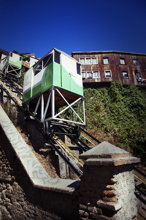 valparaiso: Funicular transportation in Valparaiso city, Chile.