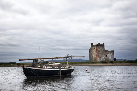 supposed: 2013: View of Lochranza bay and the castle. This is supposed to be the castle that served as a reference for one of Hergés TinTin stories. Editorial