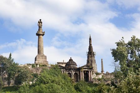 Croci di granito nel cimitero Necropoli di Glasgow Archivio Fotografico - 50831175