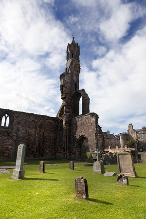 cathode: Ruin of St Andrews Cathedral in St Andrews Scotland