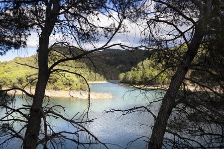 backlite: Pena Reservoir Panorama in Teruel, Spain