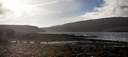 Sunset in waternish beach. Isle of sky Stock Photo