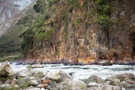 River in Inca Trail Stock Photo