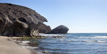 Cabo de Gara National Park. Almeria Stock Photo