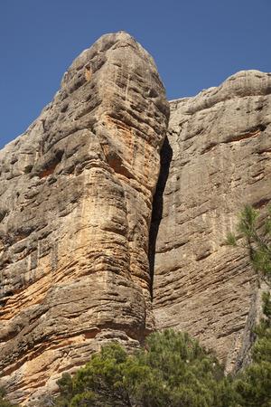 Benet Rocks. Los Ports Park Natural Stock Photo