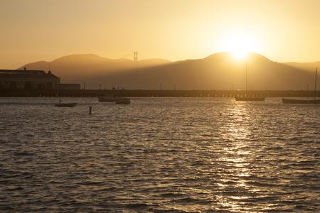 Sunset in San Francisco Bay, California