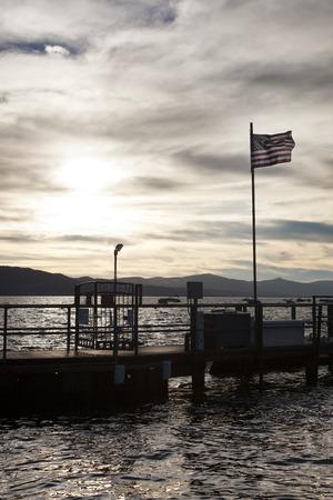 Sunset in Tahoe lake