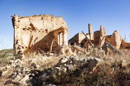 Village destroyed in the Spanish Civil war