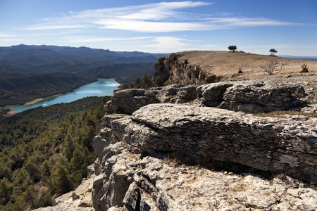 Peak of La Caixa. Valderrobres, Teruel Stock Photo