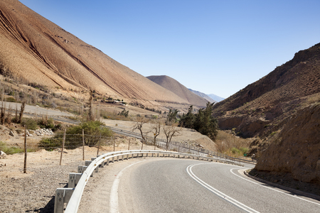 Road in Elqui Valley. Chile