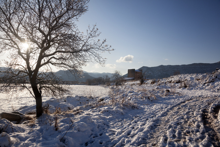 Valderrobres in winter Stock Photo