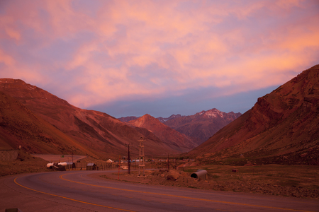 Sunset in Andes. Chile