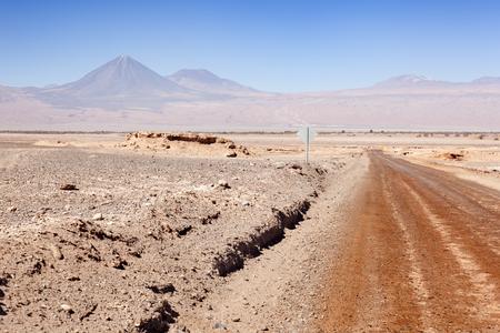 Way in Moon Valley. San Pedro of Atacama. Chile Stock Photo
