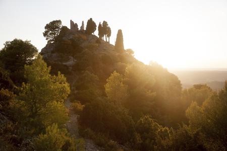 Santa barbara Peak. Horta de Sant Joan. Tarragona province. Spain Archivio Fotografico - 121839248