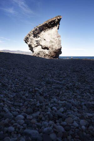 Big stone on the Beach