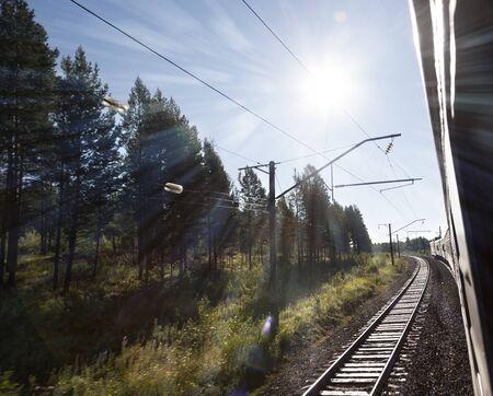 Sunset on Trans-Siberian Railway