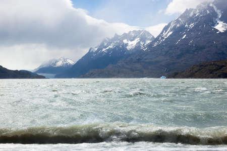 Views of the Grey Glacier lake