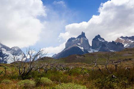 Los Cuernos, Las Torres National Park, Chile Banco de Imagens