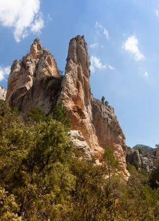 Ulldemó river gorge in Teruel Province. Spain Banco de Imagens