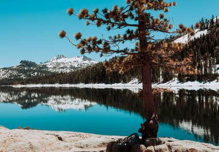 Lake in California Archivio Fotografico