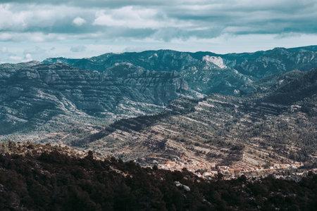 Fields in Matarranya. Teruel province. Spain