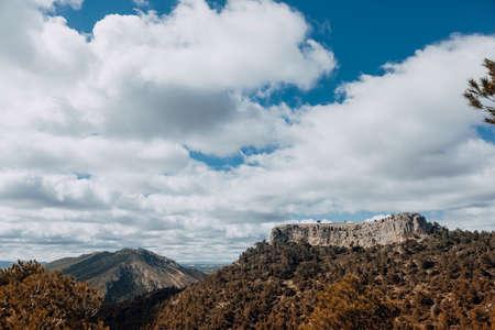 La Caixa of Valderrobres from Beceite. Teruel province