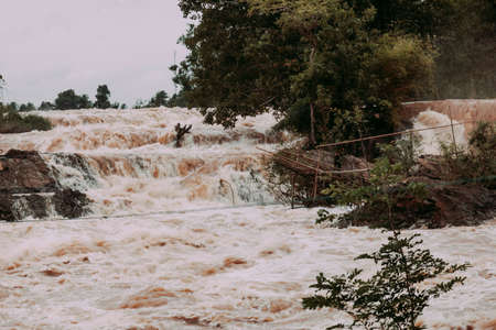 Overflow of a river in Laos