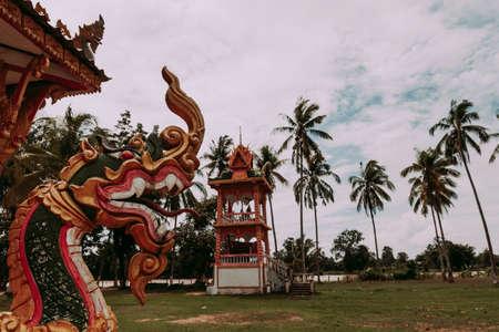 Buddhist Temple in Don Khong. Si Phan Don Island Archivio Fotografico