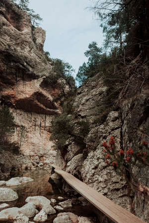 The Gubies in Parrisal Canyon. The Ports Mountains. Teruel province