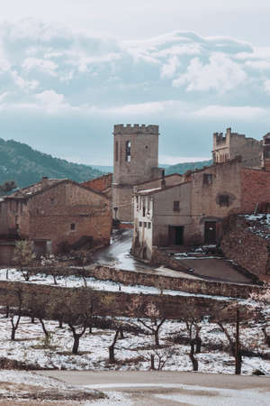 Valderrobres village in winter. Spain