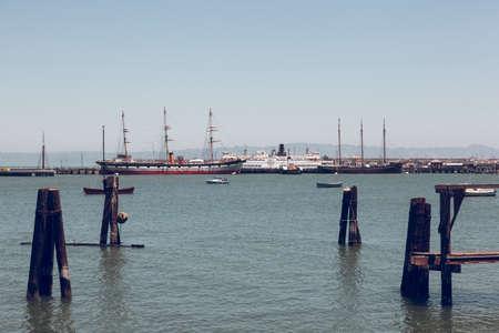 San Franciso, CA, USA-June 21, 2017: Views of San Francisco Harbor