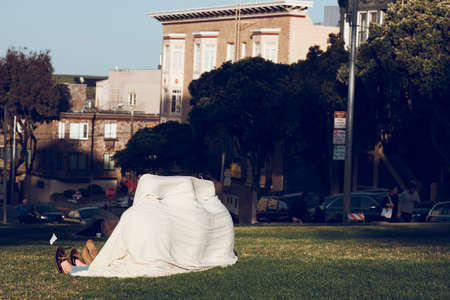 San Francisco, CA, USA-June 21, 2017One of the attractions of the city of San Francisco and the Alamo Square neighborhood are the