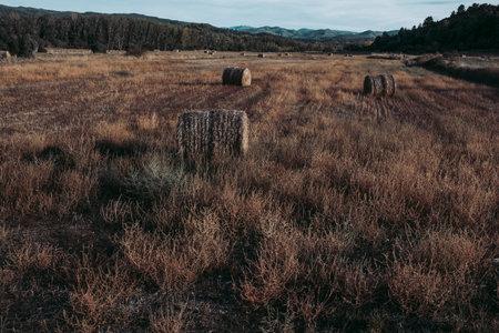 Fields in Maestrazgo. A region of the province of Teruel, Spain Archivio Fotografico