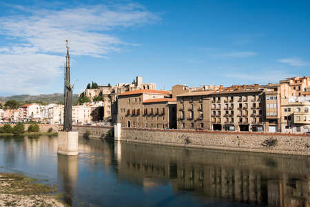 Tortosa, Spain-October 27, 2020: Francoist monument to those who died in the Battle of the Ebro. This monument will be removed next July in compliance with the Law of Historical Memory Editoriali