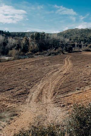 Fields in Matarranya. A region of the province of Teruel, Spain