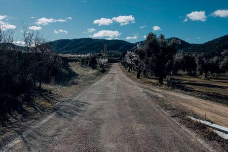 Old Road to Belmonte de San José. Teruel province Archivio Fotografico