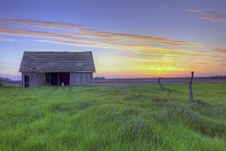 Old Abandoned Barn At Sunset #2 photo