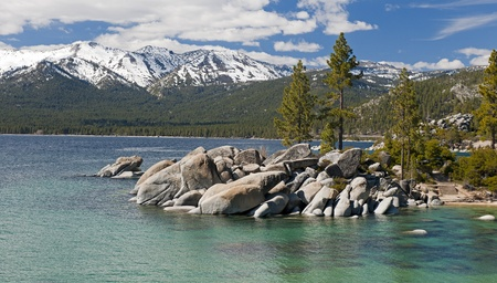 sand harbor: Sand Harbor Beach At Lake Tahoe Archivio Fotografico
