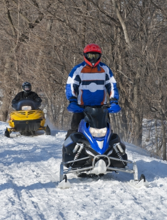 Snowmobiling At The Park In February