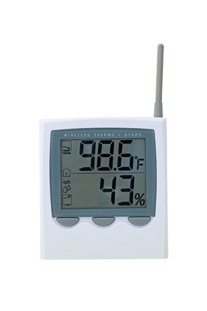 extreme heat: Thermostat Showing Extreme Heat And Humidity