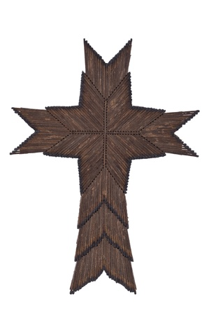 matchstick: Cross Made Out Of Burnt Matchsticks