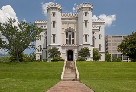 louisiana state: Old State Capitol Building In Baton Rouge Louisiana