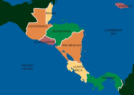 Nicaragua: Map Of Central Amerca