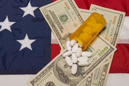 Prescription Medicine The American Flag and Money photo