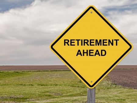 Caution - Retirement Ahead Stock fotó