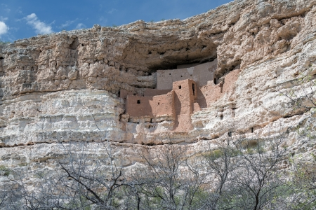 Montezuma Castle In Arizona Reklamní fotografie
