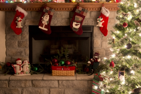 Christmas Tree   Fireplace Decorations photo
