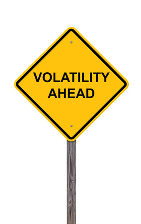 Caution Sign On White - Volatility Ahead photo