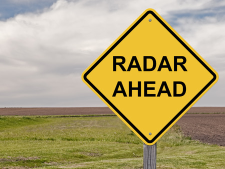 Attention Sign - Radar Ahead Banque d'images - 26362791